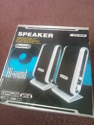 2 X Speakers For Laptop Computer  HY218 600W  • 5.50£