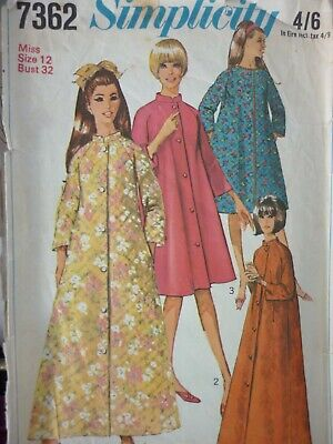 Vintage 1960's Simplicity Easy Ladies Robes Sewing Dressmaking Pattern • 2.99£