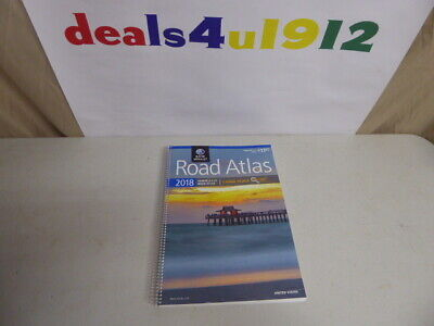 Rand McNally 2018 Road Atlas America's #1 Easy Finder 35% Larger Maps US Canada • 5.71£