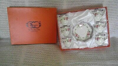 MINI TEA/COFE- SET Of 6 Cups And Saucers    By Angela   Fine  New Bone China • 30£