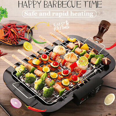 £24.77 • Buy Electric Table Top Grill BBQ Barbecue Garden Camping Cooking 2000W Indoor Or Out