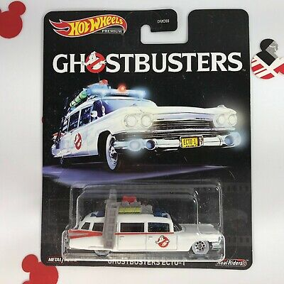 Hot Wheels GHOSTBUSTERS ECTO-1 Premium Pop Culture Real Riders Brand NEW! • 9.29£