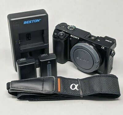 AU476.62 • Buy Sony Alpha A6000 Body Only - Plus Charger & Batteries - 982 Clicks!