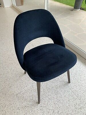 "AU1390 • Buy Knoll ""Saarinen"" Dining Chairs In Navy - Good Condition.  10 Available"