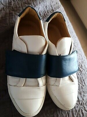 AU40 • Buy Scanlan Theodore Runners Size 40 Navy And White   Leather Rrp $350