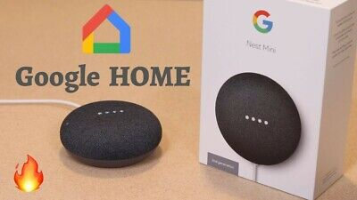 AU31 • Buy Google Nest Mini (2nd Generation) Smart Speaker - Charcoal - Brand New