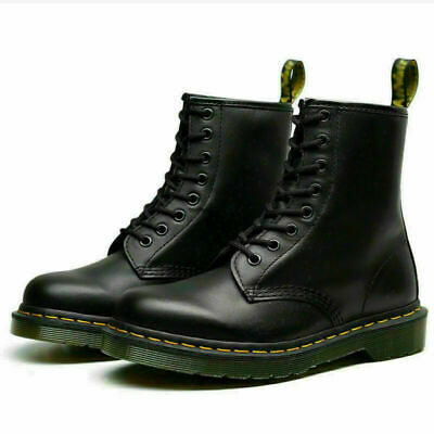 1460 Dr. Martens Unisex 8 Lace Up Leather Boots Shoes Doc Martins - Soft NAPPA • 25.99£