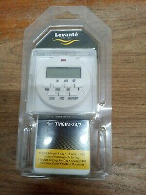 Levante Immersion Heater Timer 24 Hour & 7 Day Digital Time Switch  • 20£
