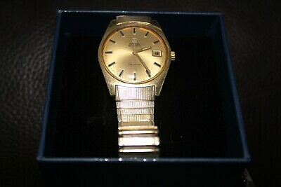 Omega Gold Plated Auto Watch Very Good Cond With Original Strap • 200£