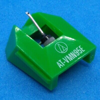 Audio-Technica Orig -Eliptical Stylus For AT-VM95 Phonograph Cartridges - Green • 34.30£