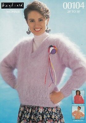 Hayfield Mohair Ladies/girls Sweaters & Cardigan Knitting Pattern  - 28-38  • 2.99£
