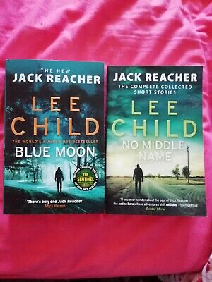 2 Lee Child Books, Blue Moon And No Middle Name • 0.99£