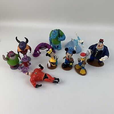 £11.61 • Buy Lot Of Disney Figurines Monsters Inc & Mickey Donald  & Incredibles Cake Toppers