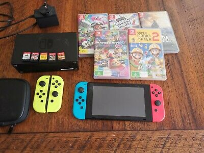 AU470 • Buy Nintendo Switch With 5 Games And 2 Sets Of Joycon
