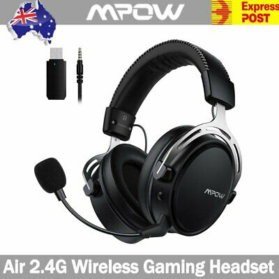 AU65.22 • Buy Mpow Air 2.4G Wireless Gaming Headset Stereo Bass Headphones For Laptop PC PS4
