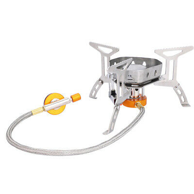 £14.70 • Buy Mini Camping Stove Windproof Saves Fuel Folding Outdoor Gas Stove Portable Oven