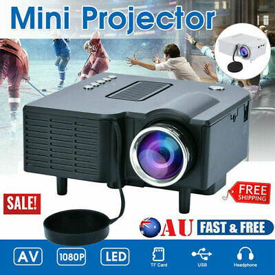 AU69.99 • Buy Mini LED Projector HD 1080P Portable Home Theater Cinema USB HDMI Multimedia AV