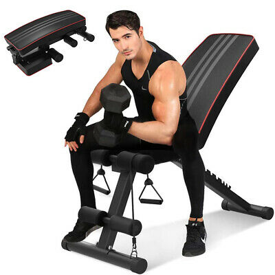 Heavy Duty Weight Bench Workout Gym Exercise Flat Incline Decline Situp Foldable • 79.59£