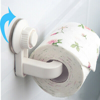 AU12.05 • Buy Toilet Paper Roll Holder Rack Rail Tissue Storage Suction Cup Wall Mounted Rack