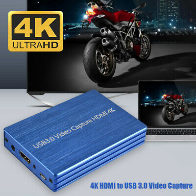 4K 1080P HDMI To USB 3.0 Video Capture Card For Streaming Game Live Recorder UK • 46.99£