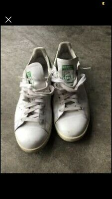 AU20.50 • Buy Mens White And Green Adidas Stan Smith Trainers, Size 10.5 US
