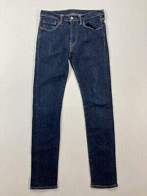 LEVI'S 519 SKINNY Jeans - W30 L32 - Navy - Great Condition - Men's • 29.99£