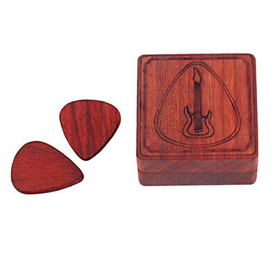 $ CDN15.44 • Buy Rosewood  Guitar Pick Box Plectrum Holder For Guitar Lover Musical Gift Picks