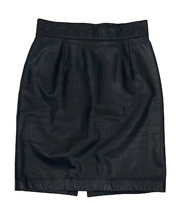 $ CDN43.92 • Buy Vintage 90s DANIER Womens Size S Black Leather Short Pencil Skirt Made In Canada