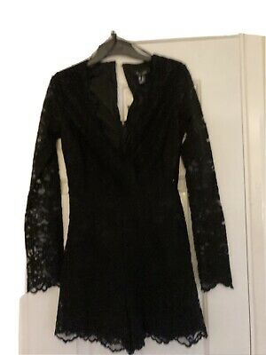 New Look Black Lace Play Suit Size 8 • 1.10£