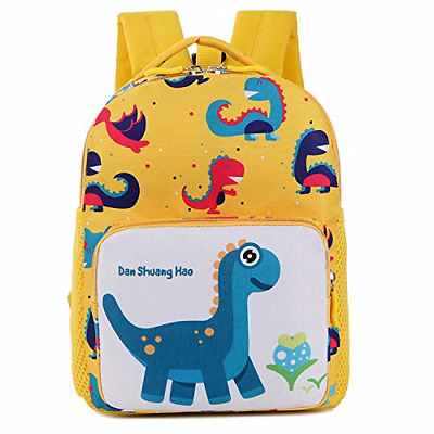 Cosyres Dinosaur Toddler Kids Backpack Rucksack With Reins For Boys Yellow • 16.69£