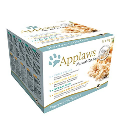 Applaws 100 Percent Natural Wet Cat Food, Multipack Fish And Chicken Selection G • 64.55£
