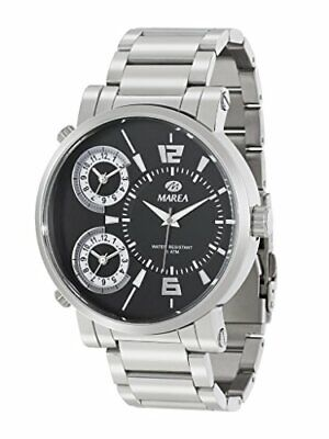 New Marea Men's Watch (B54064/1) In Silver With Black Display • 27.99£