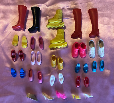 $ CDN2.52 • Buy Vintage Lot Of Barbie Shoes Boots Roller Blades 1970s-1980s 15 Pairs + More WOW