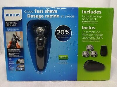 AU66.75 • Buy Philips Series 5000 Shaver S5570 Wet And Dry Trimmer & Extra Shaving Head Pack