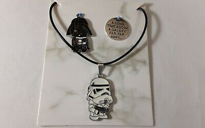 Star Wars Necklace With 3 Interchangeable Charms • 9.66£