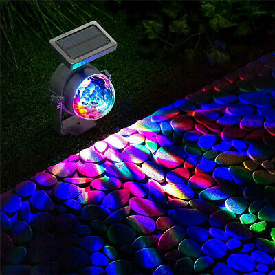 NEW Solar LED Carnival Spotlight Colour Changing Projection Stake Light Outdoor • 11.99£