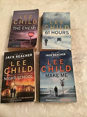 Lee Child Lot Of 4 Paperback Night School, Make Me, The Enemy & 61 Hours Pre-own • 2£