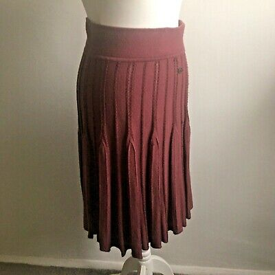 £12.99 • Buy Tommy Hilfiger Cable Knit Burgundy Red Skirt XS 6 UK Christmas
