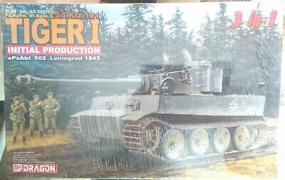 DRAGON 1/35 6252 Sd.Kfz 181 Tiger 1 Initial Production 3 In 1 Kit • 17.92£