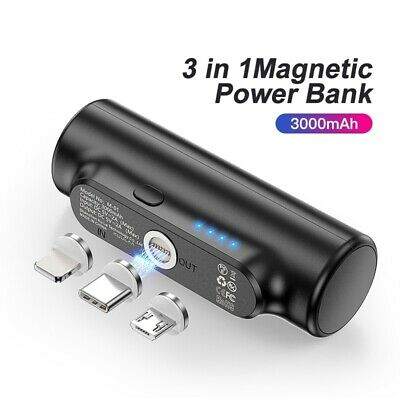 AU55.46 • Buy Magnetic Power Bank 3000 MAh For IPhone Xiaomi Samsung Portable Battery Charger