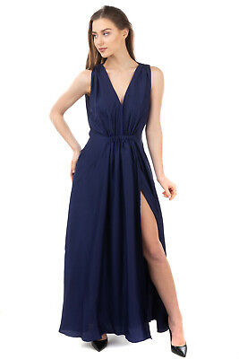 AU54.08 • Buy THREE GRACES LONDON Cocktail Dress Size 8 / S Elasticated Waist Ruched V-Neck