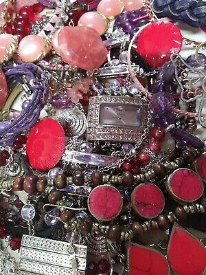 $ CDN25.25 • Buy Vintage To Now Untested Unsearched. Vintage Purple/ Pink / Red Jewelry Lot