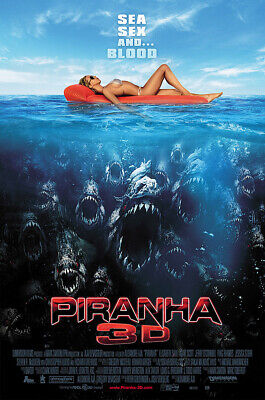 AU22.22 • Buy MCPoster - Piranha 3D Movie Poster Glossy Finish - PRM735