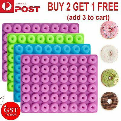 AU5.99 • Buy 48 Cavity Mini Donut Mold Silicone Tray Jelly Ice Cube Candy Cookie Dessert Mold