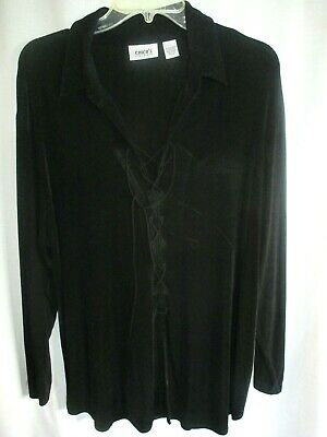 Chicos Travelers 3 - Alluring Tie String  V  Neck Pullover Knit Top Nwot • 7.59£