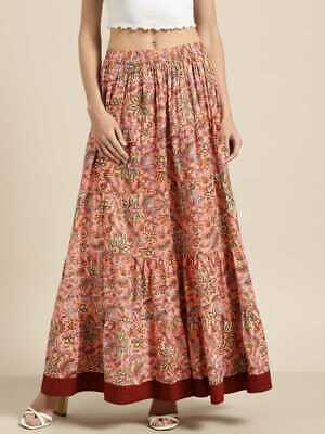 Shae By Sassafras Women's Woven Floral Tiered Maxi Skirt With Tie Up Detail • 12.99£
