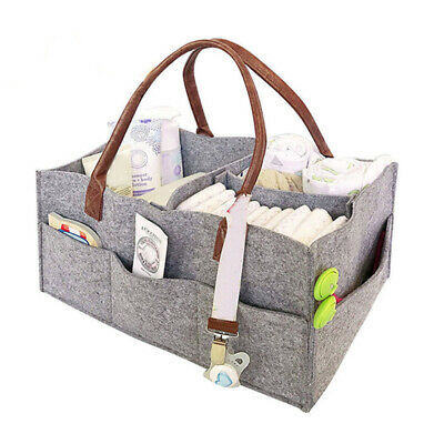 AU14.99 • Buy Portable Diaper Caddy Nursery Storage Baby Organizer Nappy Infant Wipes Bag Grey