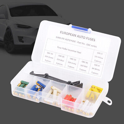 5-30A Eastern Europe Car Fuse Kit Professional With Box Practical Flat Tube • 8.83£