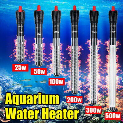 AU15.12 • Buy 25-500W Aquarium Fish Tank Water Submersible Automatic Thermostat Heater Heating