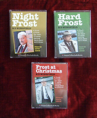 DI Frost Audio Book Cassettes: Hard Frost, Night Frost, Frost At Christmas • 5.99£